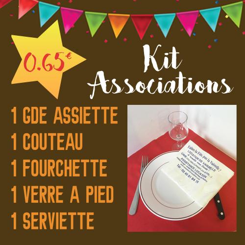 kit associations, assistance location, repas associatif, vaisselle à rendre non lavée, location de vaisselle